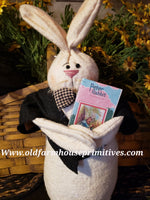 #BSP4 Primitive Peter Rabbit With Book (Made In USA)