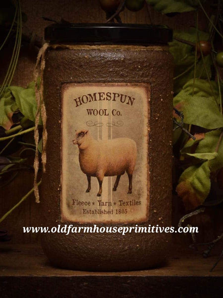 "#HSC4 Herbal Star Candle ""SHEEP"" Collection Soy Blend  (Made In USA)"