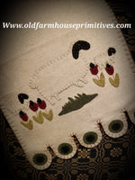 #PSFR Primitive Sheep In The Meadow Table Runner Nutmeg