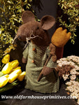 "#ECVTM6 Primitive Spring Tulip Mouse ""Mustard"" Tulip 🌷  (Made In USA)"