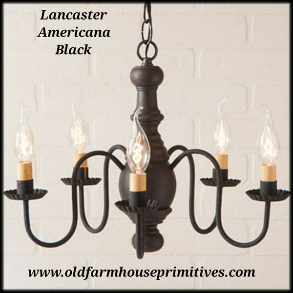 #9116T Primitive Lancaster Wooden Chandelier (Made In USA)
