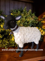 "#CY14B Craig Yenke Large White Sheep ""Black Face"" (Made In USA)"