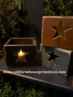"#PPWSSB1 Primitive ""Black"" Star Wood Box   (Made In USA)"