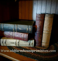 #PMBB Primitive Hand Painted & Antiqued Books