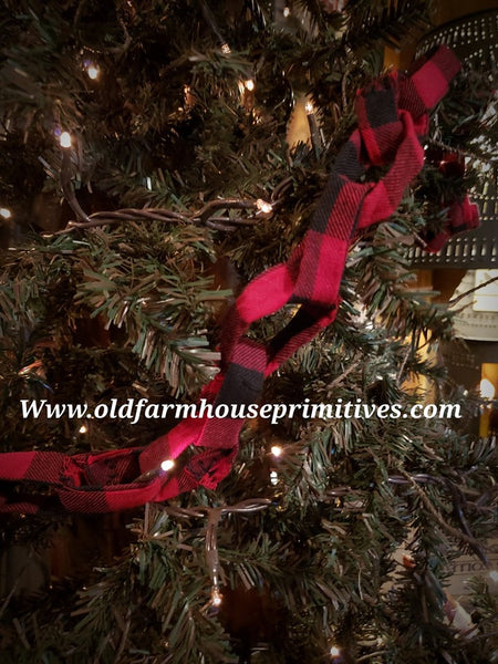 #PBCG Primitive Red & Black Buffalo Check Garland Garland
