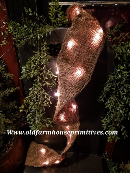 #BGWL22 Lighted Burlap Garland