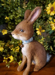 #CY64 Craig Yenke Small Sitting Brown Rabbit (Made In USA)
