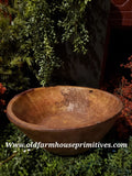 #CTRT4 Reproduction Deep Treenware Bowl With Repair Patch