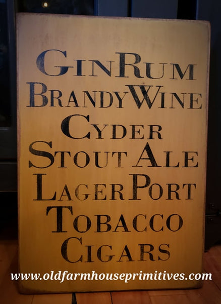 #TWP3 Primitive Old Style Tavern Sign (Made In USA)