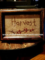 #MCCSHS Mini Harvest Framed Hand Stitched Cross Stitch  (Made In USA)