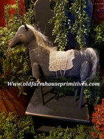 #NNPSH Primitive Handmade Standing Horse (Made In USA)