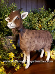 #CY39 Craig Yenke Large Standing Brown Goat (Made In USA)