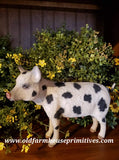 "#CY25 Craig Yenke Large Standing ""Cream Spotted"" Pig (Made In USA)"