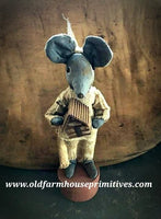 "#LT23 Primitive Log Cabin Mouse On Pantry Box ""Made In USA"""