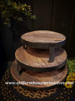 #PK7 Set Of Three Reclaimed Wood Risers