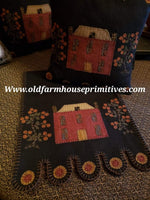 #R1 Primitive Manor Pillow & Table Runner