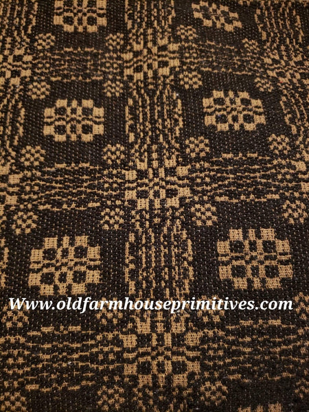 #PCT13 Primitive Black And Tan Gettysburg Woven Textiles