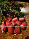 "#PBWRBO1 Primitive Beeswax ""Red Burnouts"" Little Nub Bowl Fillers (Made IN USA)"