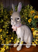 #CY96 Craig Yenke Sitting Grey Jack Rabbit (Made In USA)
