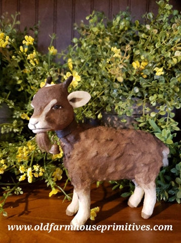 #CY38 Craig Yenke Small Standing Brown Goat (Made In USA)