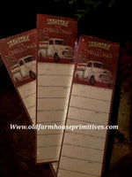 "#PNC16 Primitive White Truck ""Home For Christmas"" Notepad"
