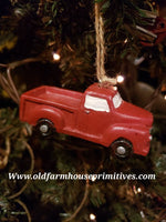#PRTC2 Red Truck Christmas Tree Ornament