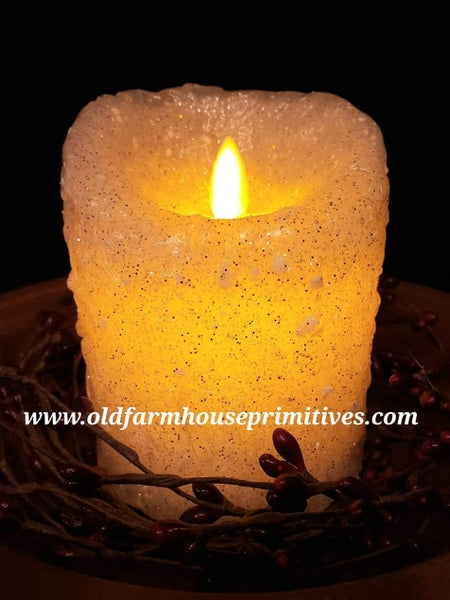 "#VJMF4 Moving Flame Timer Candle ""SHIMMER DIAMOND"""