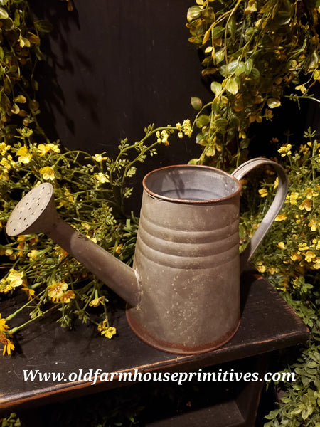#PGWC46 Primitive Rustic Metal  Watering Can
