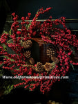 #CBCCR4 Cumberland Red Berry Stick Back Wreath #1 Seller