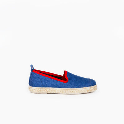 Espadrille Sneaker enfant Light Denim Hast collab profil