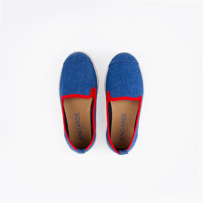 Espadrille Sneaker enfant Light Denim Hast collab dessus