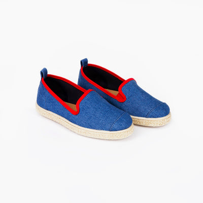 Espadrille Sneaker enfant Light Denim Hast collab biais