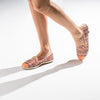 Espadrille Sneaker Femme saumon coton touffu Manly Orange casual chic