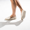 Exclusive Slip-On Surry Hills femme ANGARDE coton summer afterwork tissus touffu beige casual chic