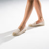 Exclusive Slip-On Bronte Beige femme ANGARDE coton summer afterwork beige bout doré casual chic