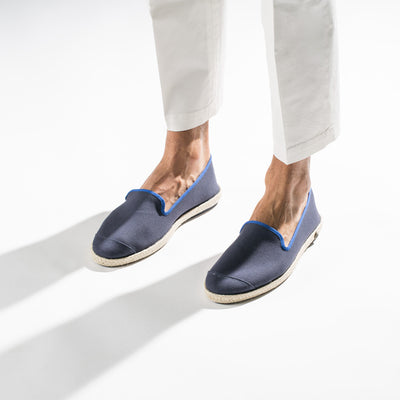 Espadrille Sneaker Homme marine Classic Navy coton intemporel