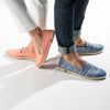 Exclusive Slip-On Bronte Salmon femme ANGARDE coton summer afterwork saumon bout doré unisexe