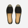 Exclusive Slip-On Bronte Black femme ANGARDE coton summer afterwork noir bout doré vue dessus