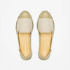 Exclusive Slip-On Bronte Beige femme ANGARDE coton summer afterwork beige bout doré vue dessus