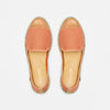 Exclusive Slip-On Bronte Salmon femme ANGARDE coton summer afterwork saumon bout doré vue dessus