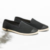 Classic Slip-On Black Homme ANGARDE coton summer sunrise noir vue biais