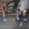 Urabn Slip-On Sunburn Blue Femme ANGARDE cuir mid season afterwork bleu et damier casual chic