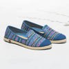 Exclusive Slip-On Manly Blue femme ANGARDE cotton summer afterwork tissus péruvien bleu vue biais
