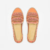 Exclusive Slip-On Manly Orange femme ANGARDE coton summer afterwork tissus péruvien orange vue dessus