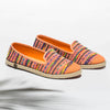 Exclusive Slip-On Manly Orange femme ANGARDE coton summer afterwork tissus péruvien orange vue biais