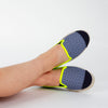 Collab Slip-On Navy Azulejos GILI'S Enfant ANGARDE coton sunrise summer bleu et jaune confort