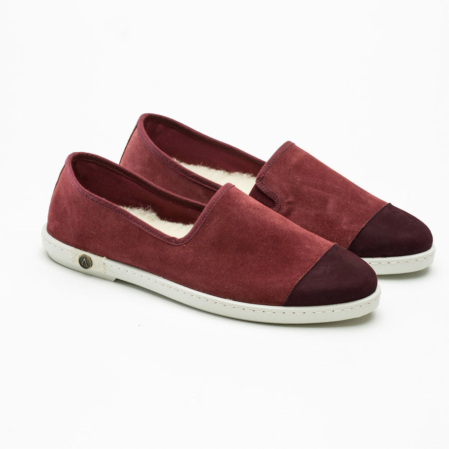 Chausson Sunburn Bordeaux Homme ANGARDE leather rouge Bordeaux outdoor