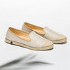 Exclusive Slip-On Surry Hills femme ANGARDE coton summer afterwork tissus touffu beige vue biais