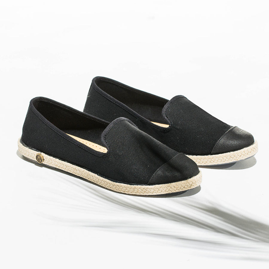 Classic Slip-On Black Femme ANGARDE coton summer sunrise noire casual chic