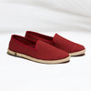 Classic Slip-On Carmine Homme ANGARDE coton summer sunrise bordeaux vue biais